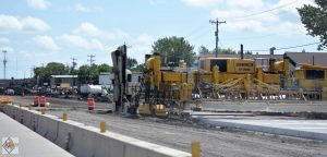 Paving operations west of 8th Street SW and Main Avenue intersection