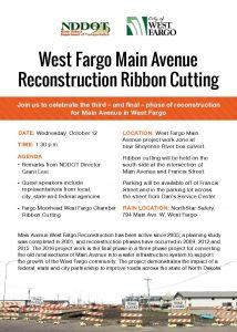 West Fargo Main Avenue Reconstruction Ribbon Cutting