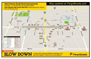First phase work zone map
