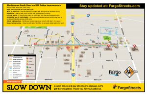 Work zone map for 32nd Ave S project