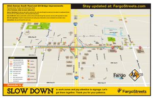 32nd Avenue southbound I-29 on ramp reopens and interstate lanes reduced starting Wednesday