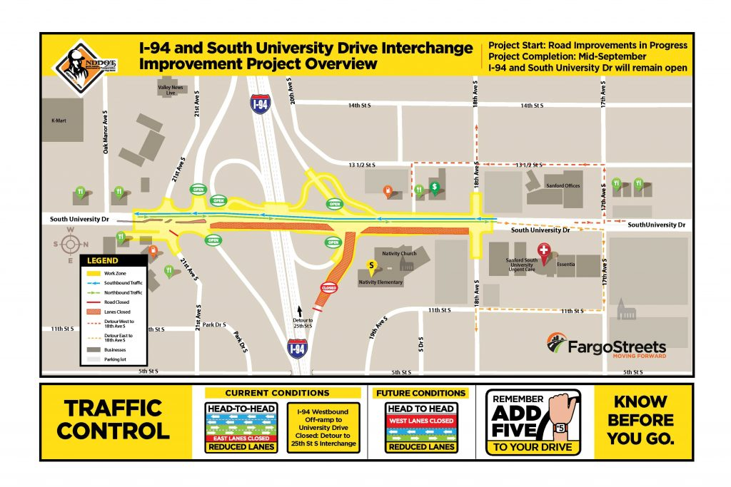 South University Access Change Map