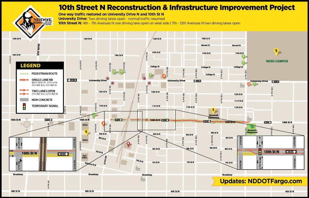 Map of 10th Street Project