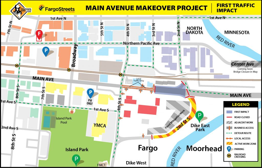First Traffic Impacts for Main Ave