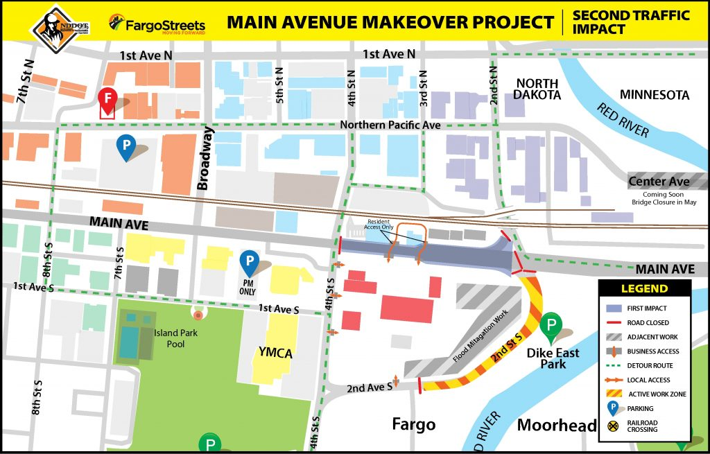 Second Traffic Impacts for Main Ave
