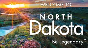 "New ""Welcome to North Dakota"" sign being installed"